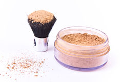 Free Makeup Brush And Powder Royalty Free Stock Photography - 14300977