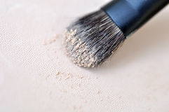 Makeup Brush And Compact Powder Royalty Free Stock Photography