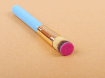 Makeup brush and cosmetic blush. Stock Photography