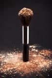 Makeup Brush And Cosmetic Powder Stock Photos