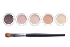 Makeup and brush isolated royalty free stock photos
