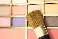 Makeup brush pallet Stock Photography