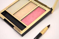 Makeup brush pallet Stock Photos