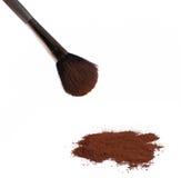 Makeup brush with powder Stock Image