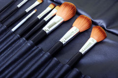 Makeup brush set Stock Photography