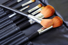 Makeup brush set Stock Photos