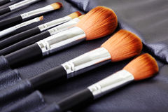 Makeup brush set Royalty Free Stock Image