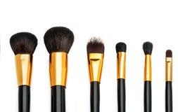 Makeup brush set. With six brush Royalty Free Stock Photo