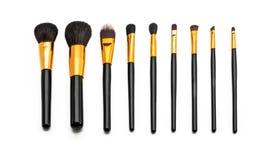 Makeup brush set. With nine brush Royalty Free Stock Image