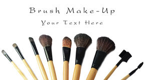 Makeup brush set isolated Royalty Free Stock Images