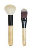 Makeup brush set Royalty Free Stock Images