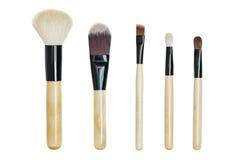 Makeup brush set Stock Photo