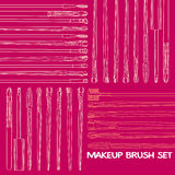 Makeup Brush Set Royalty Free Stock Photo