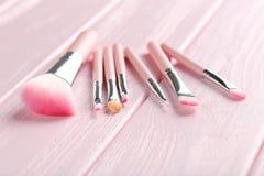 Makeup brush set Stock Images