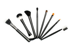 Makeup brush set Royalty Free Stock Photography