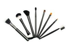 Makeup brush set Royalty Free Stock Photography