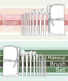 Makeup brush set Royalty Free Stock Photos