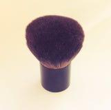 Makeup brush on white background. Royalty Free Stock Photo