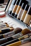 Makeup brushes. Close up of makeup brushes Royalty Free Stock Photo