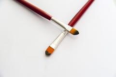 Makeup brushes Stock Photos