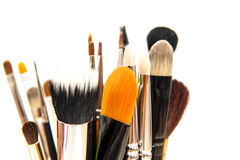 Makeup brushes Stock Image