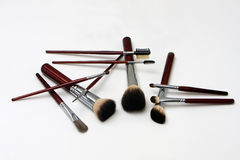 Makeup brushes royalty free stock images