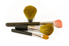 Makeup brushes Stock Photography