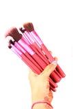 Makeup brushes Stock Photo