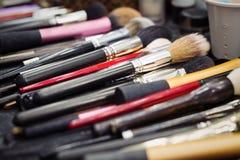 Makeup brushes, closeup Royalty Free Stock Photography
