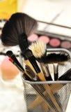 Makeup and brushes Stock Photos