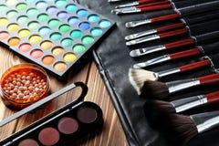 Makeup brushes Royalty Free Stock Image