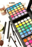 Makeup and brushes Royalty Free Stock Photos