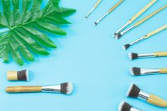 Makeup brushes, everyday make-up tools Stock Photography