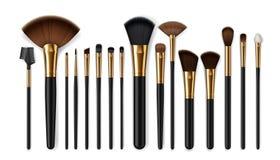 Makeup Brushes, Eyebrow Comb. Make-up Artist Kit Stock Photos
