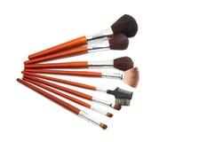 Makeup brushes isolated. On white background Stock Image