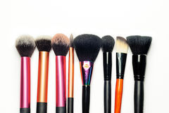 Makeup brushes isolated Stock Photos