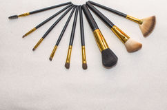 Makeup brushes Royalty Free Stock Photos