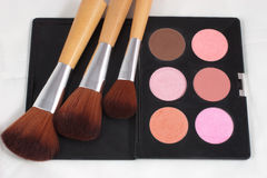 Makeup and brushes Stock Photo