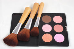 Makeup and brushes Royalty Free Stock Photo