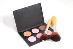 Makeup and brushes Royalty Free Stock Image