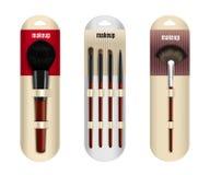 Realistic Makeup Brushes Set Royalty Free Stock Image