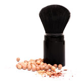 Makeup brushes and powder Royalty Free Stock Photo