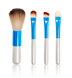 Makeup Brushes with reflection Stock Photos