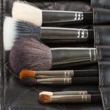 Makeup brushes set Stock Image
