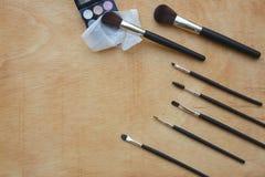 Makeup brushes set. Background Stock Images