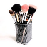 MakeUp brushes set Stock Image