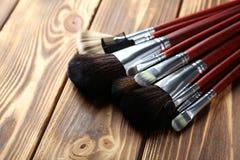 Makeup brushes set Royalty Free Stock Photos