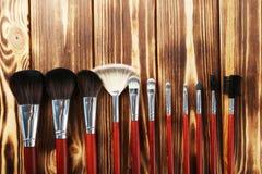 Makeup brushes set Royalty Free Stock Photo