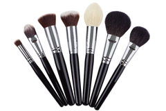 Makeup brushes set. Isolated. White background Royalty Free Stock Image