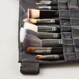 Makeup brushes set Royalty Free Stock Image